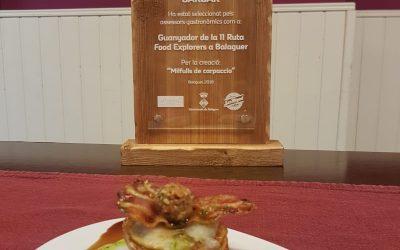 Tapa guanyadora de la 11a Ruta Food Explorers